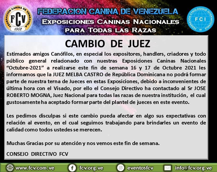 Lee más sobre el artículo CAMBIO DE JUEZ